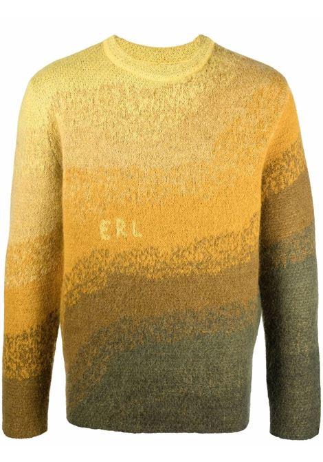 Maglione con effetto sfumato in marrone e crema - uomo ERL | ERL03N0061