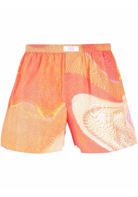 Abstract-pattern print boxers in tonal orange - men  ERL   ERL03UW032