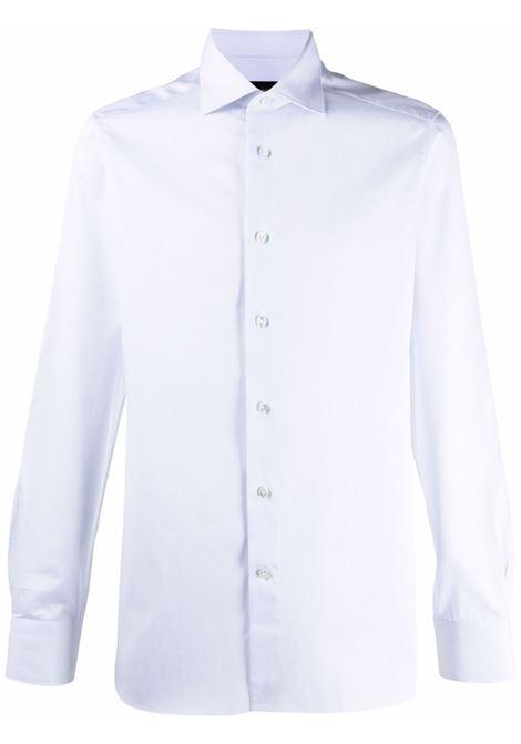 Botton-up shirt in powder blue - men  ERMENEGILDO ZEGNA | 2010069MS0JI434