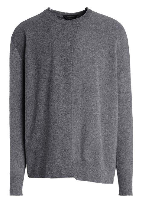 Grey layered cashmere-blend jumper - men ERMENEGILDO ZEGNA | CYK60BS0K95