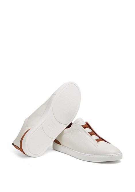 Sneakers senza lacci in bianco e rosso - uomo ERMENEGILDO ZEGNA | LHCVOA4667X105