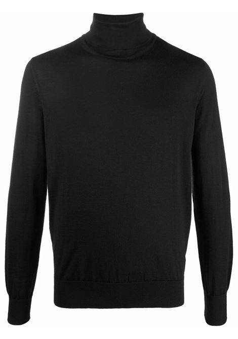Fine-knit rollneck knitted jumper in black - men  ERMENEGILDO ZEGNA | U7J00120K09