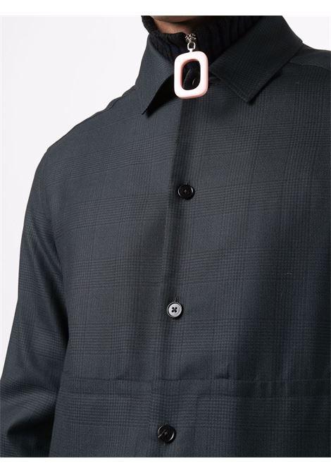 Drawstring hem shirt in navy blue - men  ERMENEGILDO ZEGNA | UYX31SOT5264
