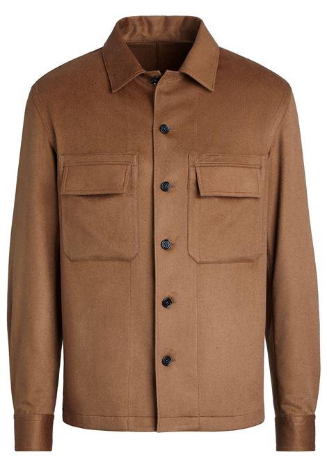 Giacca-camicia in marrone - uomo ERMENEGILDO ZEGNA | UYX46SOT6092
