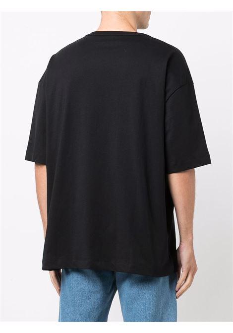 T-shirt con logo in nero - uomo ÉTUDES | E19E40101