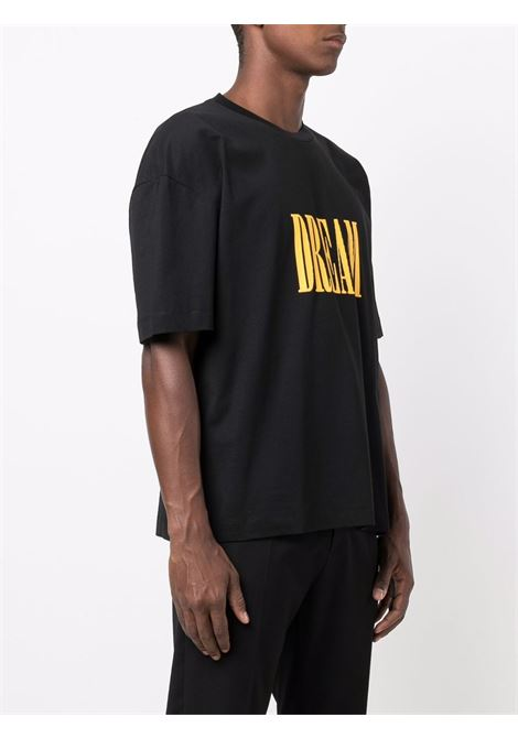 Dream print T-shirt in black and yellow - men  ÉTUDES | E19M41001