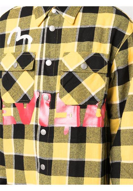 Camicia a quadri in giallo - uomo EVISU X SFERAEBASTA | 2EAEBM1SL131WVYLLW