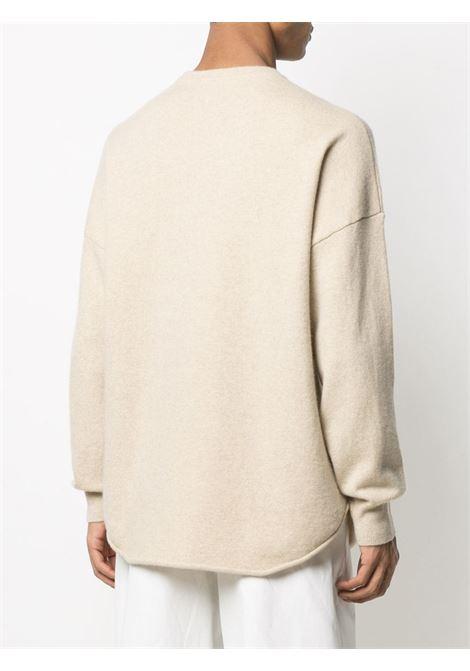 Maglione con risvolto in beige - unisex EXTREME CASHMERE X | 05301601FE01LTT