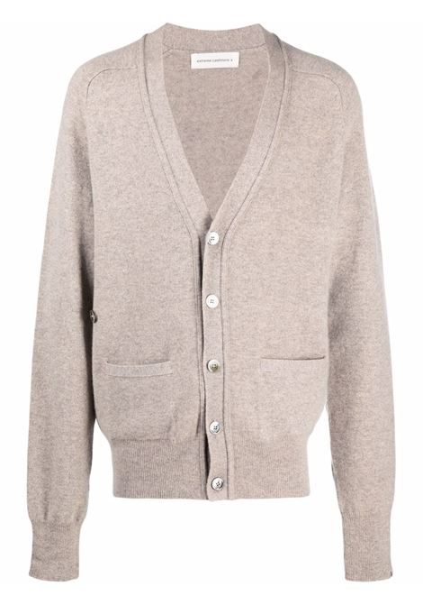 Cardigan con tasche applicate in beige - unisex EXTREME CASHMERE X | 18503701FE01MSS