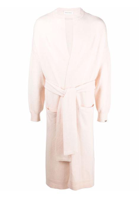 Cardigan lungo con cintura color crema - unisex EXTREME CASHMERE X   18607001FE02TLC