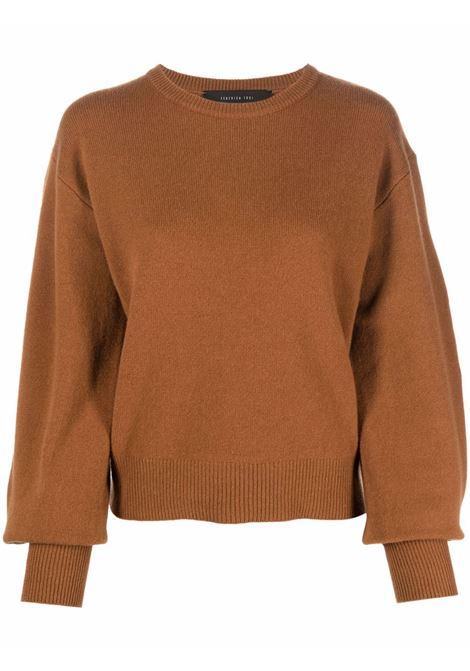 Maglione a girocollo in marrone - donna FEDERICA TOSI | FTI21MK0460FTAI210006
