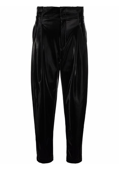 Paperbag high-waisted trousers in black - women FEDERICA TOSI | FTI21PA0050EP00280002