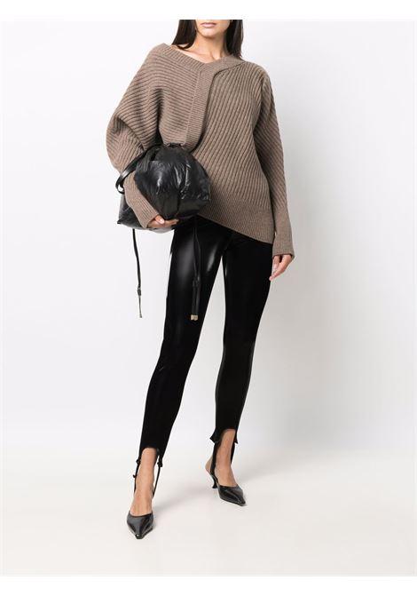 Stirrup fitted leggings in black - women  FEDERICA TOSI | FTI21PA0870EP00280002