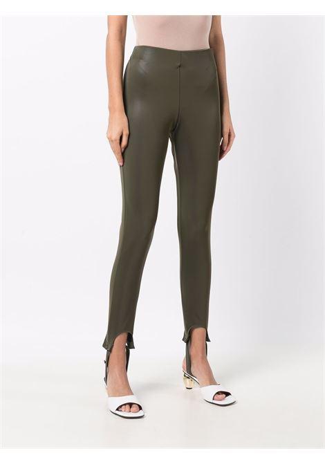 Stirrup fitted leggings in green - women  FEDERICA TOSI | FTI21PA0870EP00280007