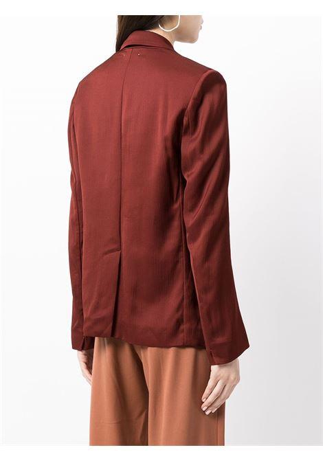 Blazer sartoriale doppiopetto in marrone - donna FORTE FORTE   84183063