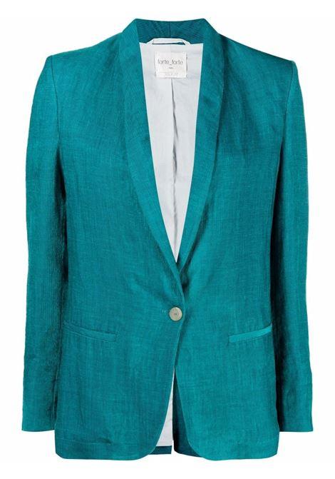Blazer monopetto in verde acqua - donna FORTE FORTE   84426044