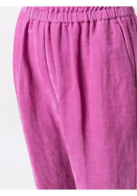 Pantaloni crop con vita elasticizzatain rosa - donna FORTE FORTE | 84430135