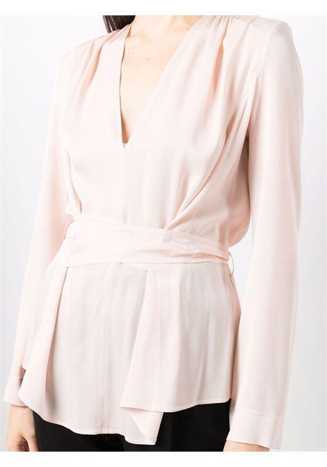 Blusa a portafoglio in rosa - donna FORTE FORTE | 84531063