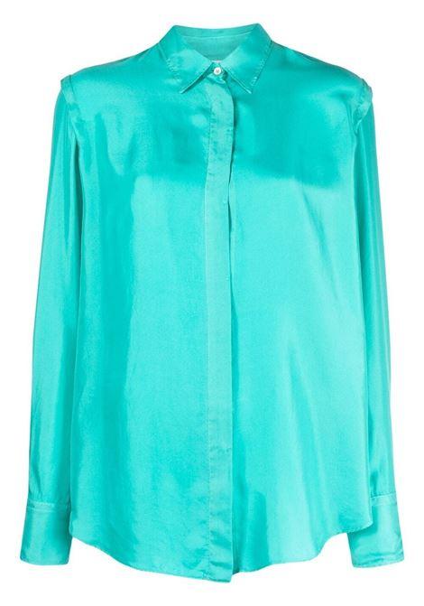 Camicia a maniche lunghe in blu aqua - donna FORTE FORTE   84675020