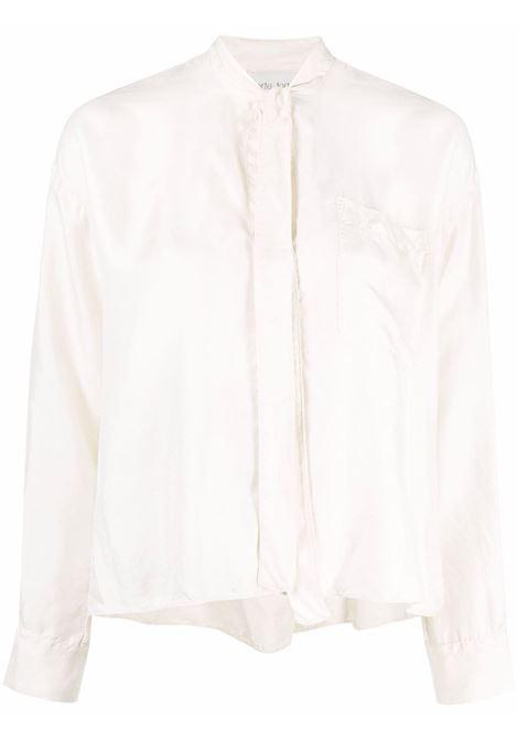 Blusa con fiocco color avorio - donna FORTE FORTE | 84680007