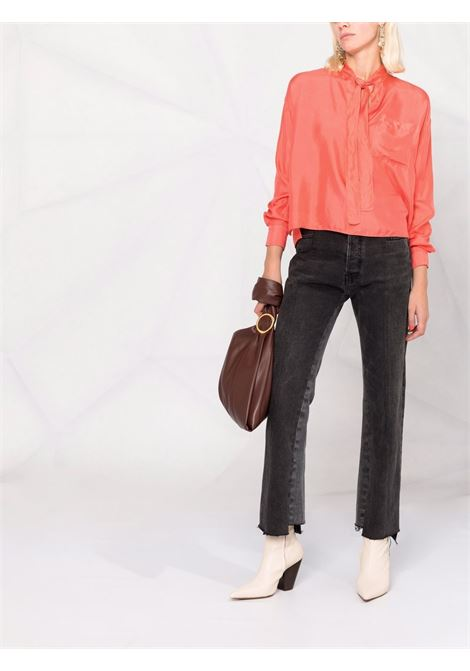 Blusa con fiocco color corallo - donna FORTE FORTE | 84680064