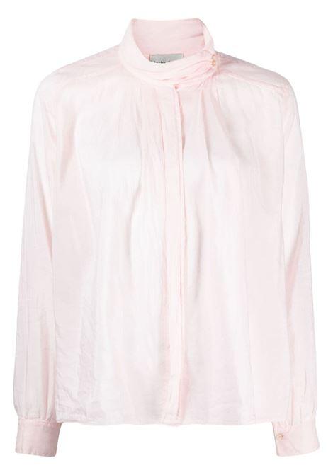 Blusa con collo arricciato in rosa pastello - donna FORTE FORTE | 84782029