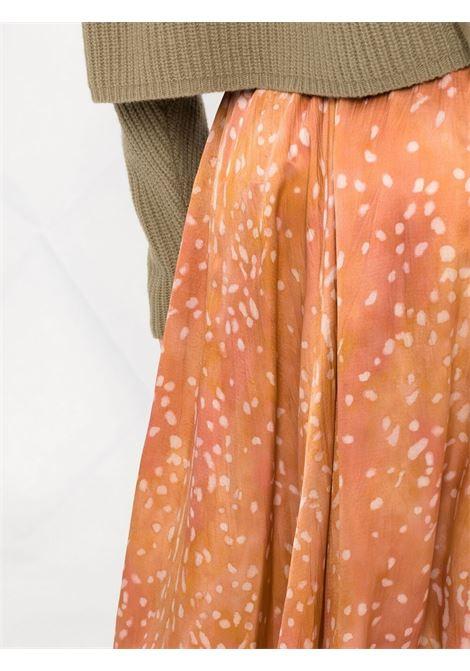 Gonna midi drappeggiata color caramello - donna FORTE FORTE | 84880175