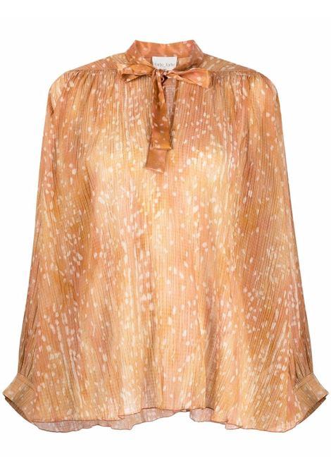 Blusa con fiocco color caramello - donna FORTE FORTE | 84900175