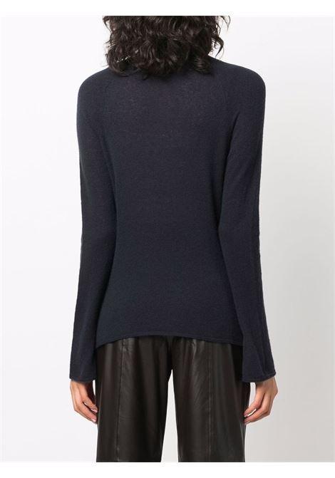 Maglione a collo alto inmaglia fine in blu - donna FORTE FORTE | 85215061