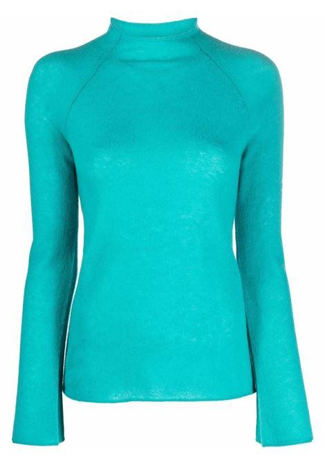Maglione a collo alto inmaglia fine in blu acqua - donna FORTE FORTE | 85216044