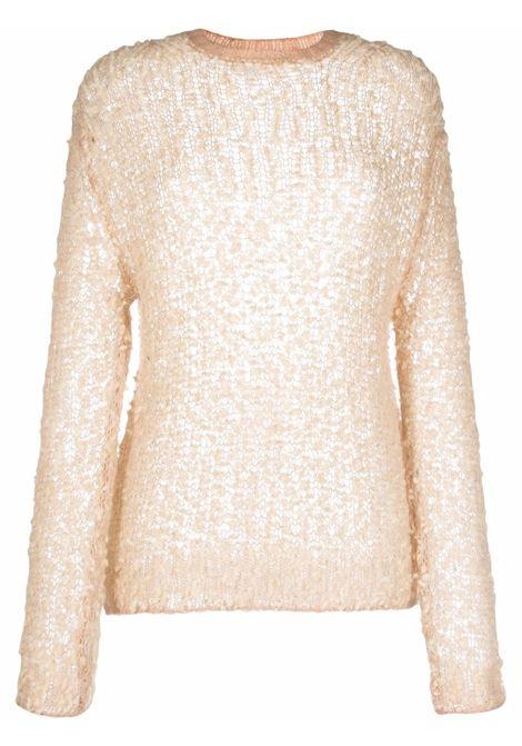 Maglione con design semi-trasparente in crema - donna FORTE FORTE | 85321063