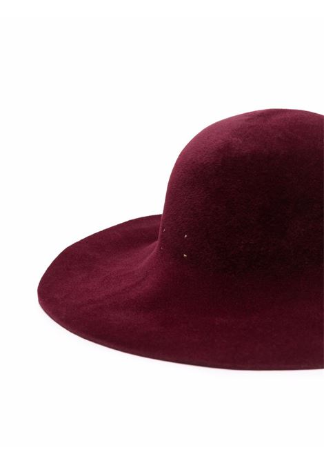 Burgundy wide brim fedora hat - women FORTE FORTE   85363063