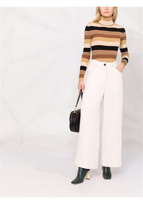 Pantaloni a gamba ampia in bianco - donna FORTE FORTE | 86140214