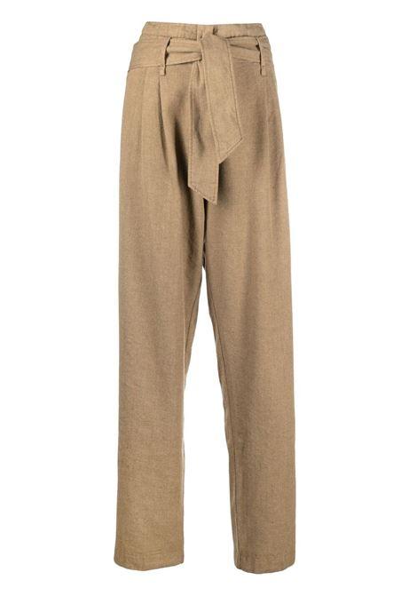 Pantaloni a vita alta in marrone - donna FORTE FORTE | 86240111