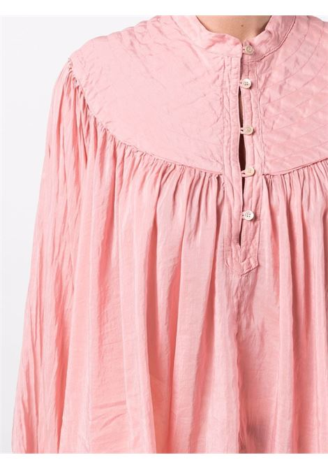 Camicia con dettaglio arricciato in rosa - donna FORTE FORTE | 86662551