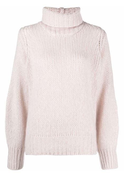 Maglione chunky con collo alto in bianco - donna FORTE FORTE | 87120212
