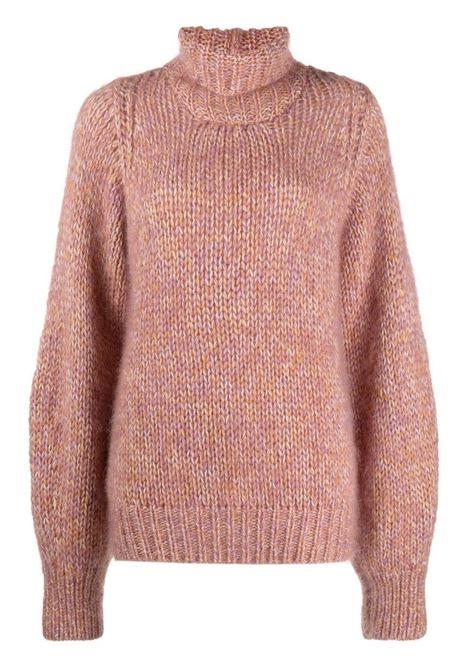 Maglione chunky con collo alto in rosa - donna FORTE FORTE | 87129054