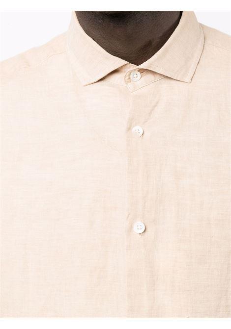Antonio shirt in beige - men  FRESCOBOL CARIOCA | 1060523