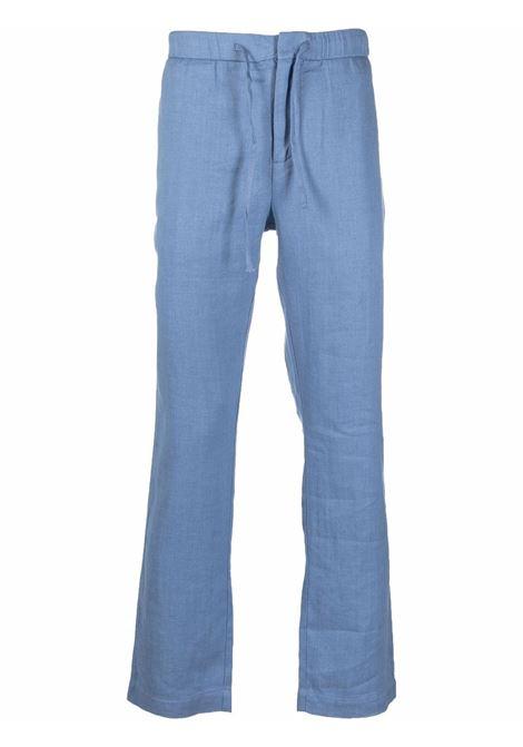 Blue wide-leg chino trousers - men  FRESCOBOL CARIOCA | 124056