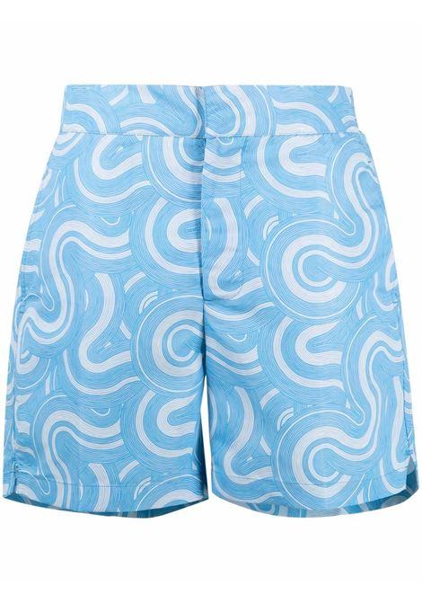 Elasticated swim shorts in  sky-blue - men  FRESCOBOL CARIOCA | 1907526