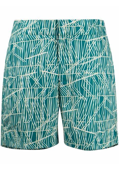 Elasticated swim shorts in deep-green - men  FRESCOBOL CARIOCA | 1908528