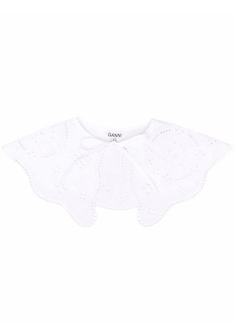 White perforated bib collar - women  GANNI   A3390151