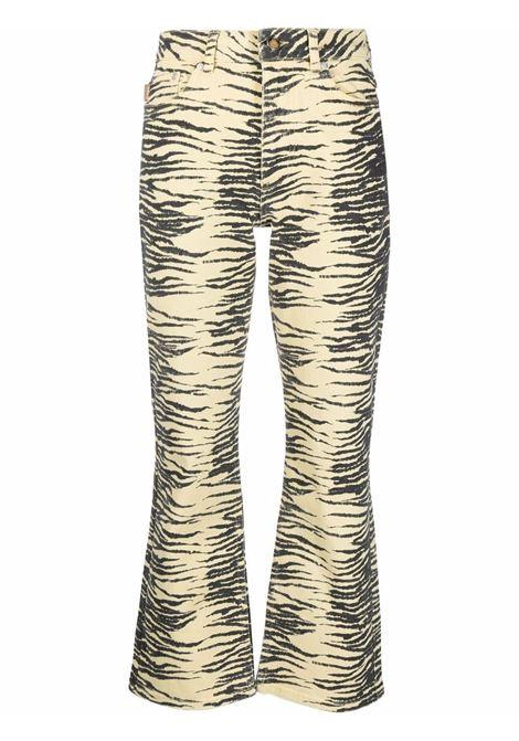 Jeans crop con stampa donna GANNI | Jeans | F5937321