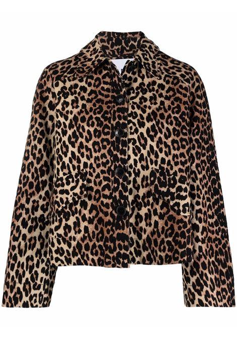 Leopard print jacket women GANNI | F5956943