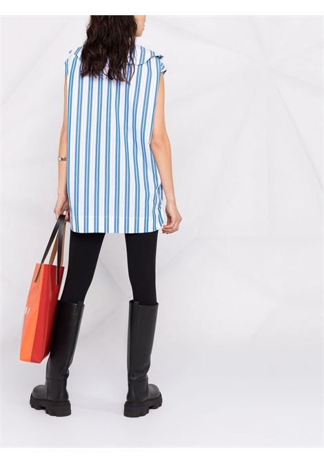 Oversized-collar striped top women GANNI | F5980572