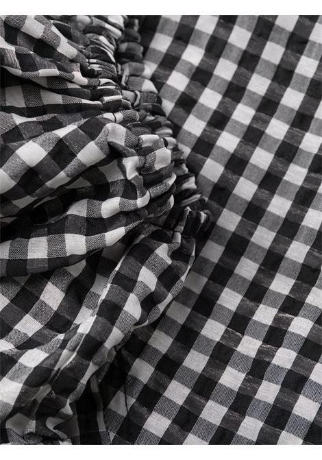 Abito con stampa a quadri in bianco e nero - donna GANNI | F6006099