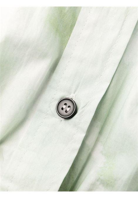Chemisier con fantasia tie-dye in verde - donna GANNI | F6028801