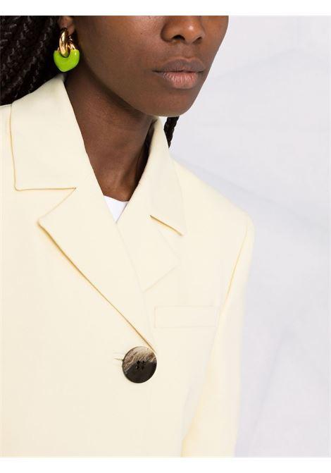 Blazer con design crop in giallo pastello - donna GANNI | F6081321