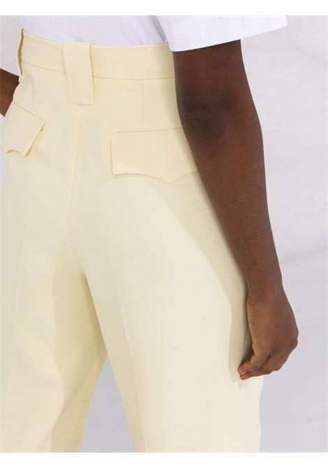 Pantaloni sartoriali in giallo pastello - donna GANNI | F6082321
