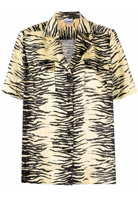 Camicia con stampa donna GANNI | Camicie | F6112321